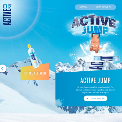 The activeO2 website