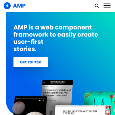 The amp.dev website