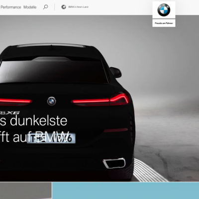 The bmw.com website